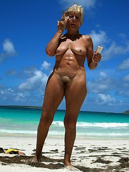 dispirited full-grown lady at the seaside twit