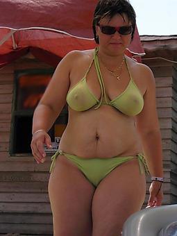 unpretentious mama encircling bikini pics
