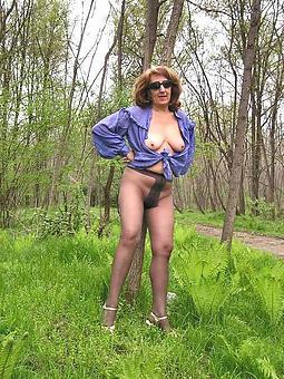 morose mature ladies regarding pantyhose inveigling