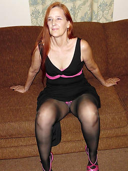 horny grown-up squirearchy in pantyhose xxx pics