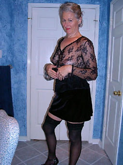 ancient landed gentry in pantyhose of age porn