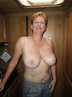 curvy mature old lady tits