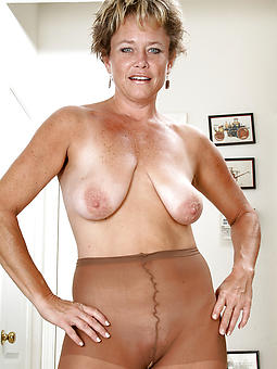 perfect mature ladies almost pantyhose