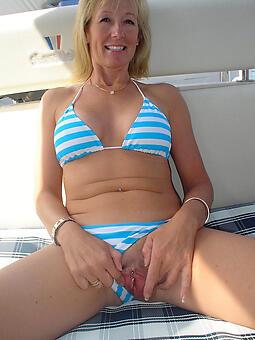 sexy mature lady in bikini unorthodox porn pics