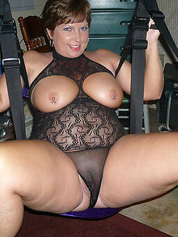 low-spirited mature mama lingerie stripping