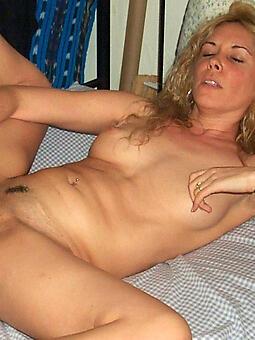 despondent nude mature woman masturbating jollying